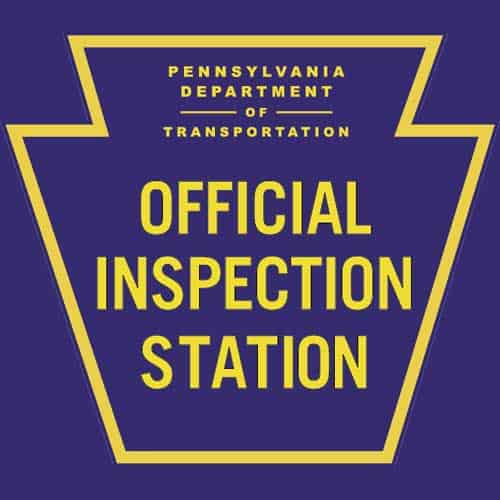 pa inspection station sign